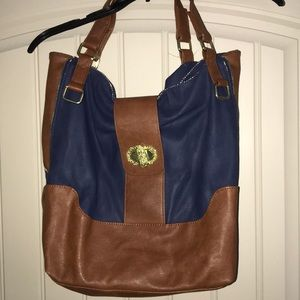 Big Buddha Navy and Brown Pocketbook